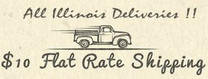 10$ Flat Rate Shipping to all Illinois Destinations for your entire Order